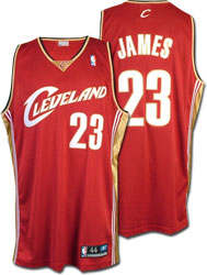 Lebron James Road Red Jersey